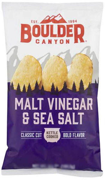 Boulder Canyon Malt Vinegar & Sea Salt Kettle Cooked Chips