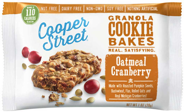 Cooper Street Granola Cookie Bakes Oatmeal Cranberry