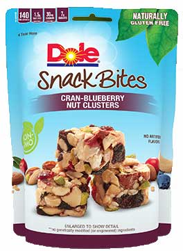 Dole Cran-Blueberry Nut Clusters Snack Bites