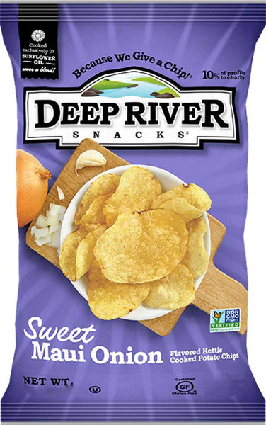 Deep River Sweet Maui Onion Kettle Cooked Potato Chips