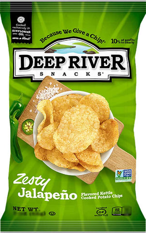 Deep River Zesty Jalapeño Kettle Cooked Potato Chips