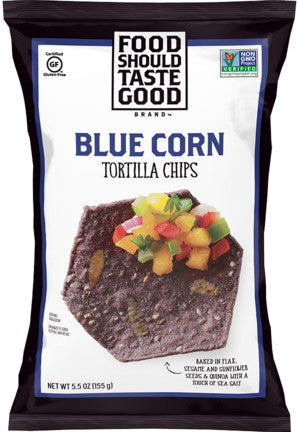 Food Should Taste Good Blue Corn Tortilla Chips