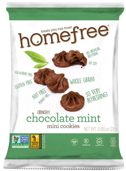 Homefree Crunchy Chocolate Mint Mini Cookies