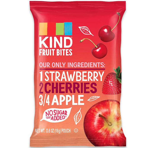 KIND Fruit Bites Strawberry, Cherries & Apple