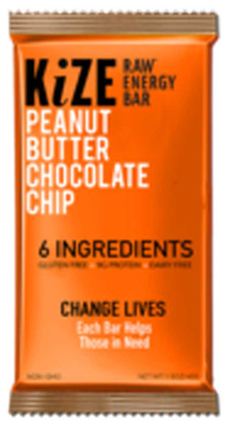 KiZE Raw Energy Bar Peanut Butter Chocolate Chip