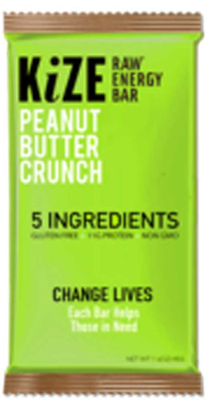 KiZE Raw Energy Bar Peanut Butter Crunch