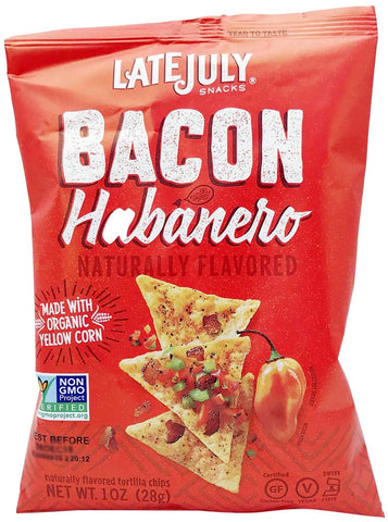 Late July Snacks Clasico Tortilla Chips Bacon Habanero