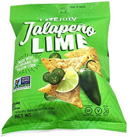 Late July Snacks Clasico Tortilla Chips Jalapeno Lime