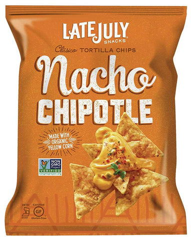 Late July Snacks Clasico Tortilla Chips Nacho Chipotle