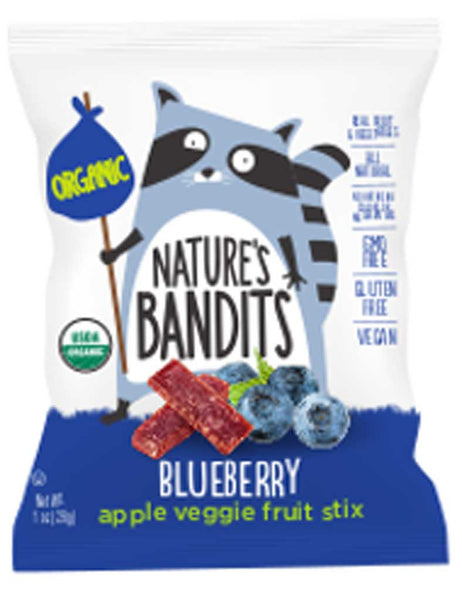 Nature's Bandits Blueberry Apple Veggie Fruit Stix
