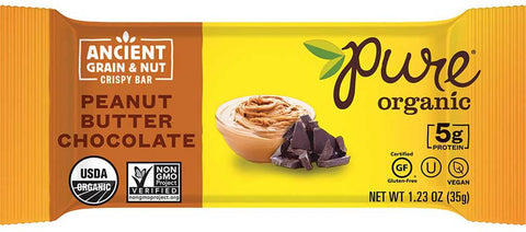 Pure Organic Ancient Grain & Nut Bar Peanut Butter Chocolate