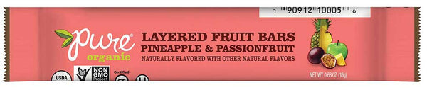 Pure Organic Layered Fruit Bar Pineapple & Passionfruit