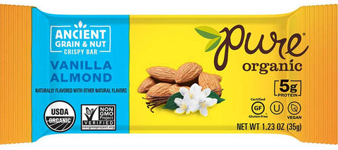 Pure Organic Ancient Grain & Nut Bar Vanilla Almond