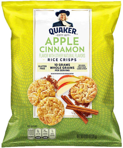 Quaker Apple Cinnamon Rice Crisps