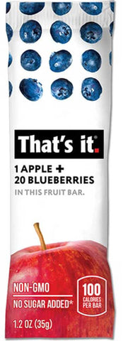 That's It Apple & Blueberries Fruit Bar