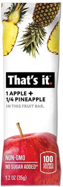 That's It Apple & Pineapple Fruit Bar