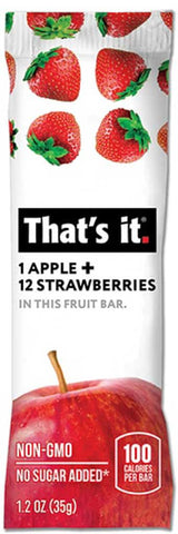 That's It Apple & Stawberries Fruit Bar