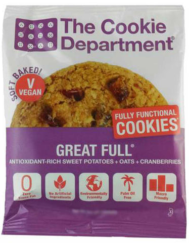 The Cookie Department Great Full Sweet Potato Cranberry & Oatmeal