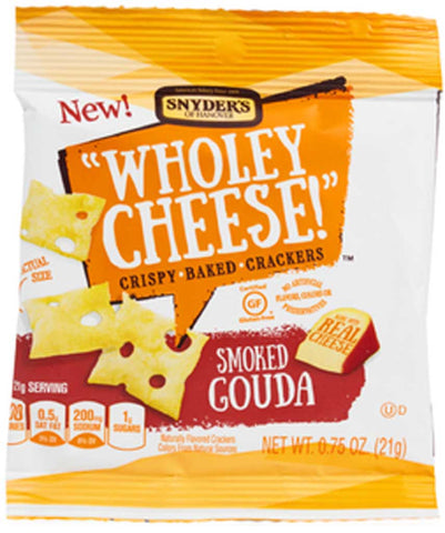 Snyder's of Hanover Wholey Cheese! Crispy Baked Crackers Smoked Gouda