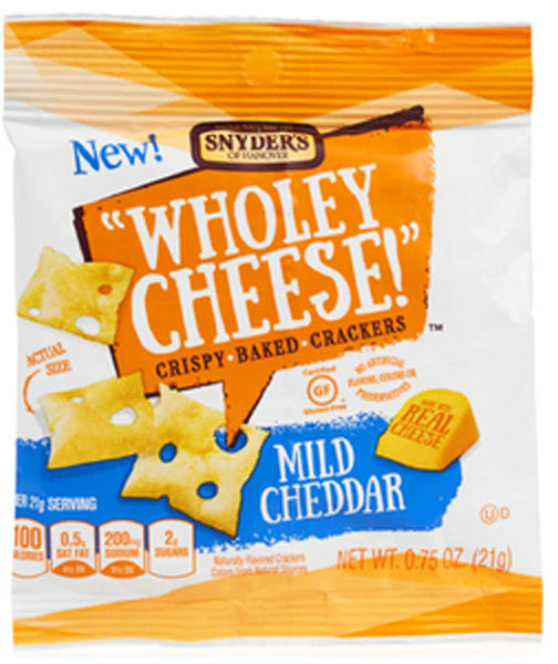 Snyder's of Hanover Wholey Cheese! Crispy Baked Crackers Mild Cheddar
