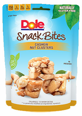 Dole Cashew Nut Clusters Snack Bites