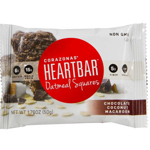 Heartbar Chocolate Coconut Macaroon Oatmeal Square
