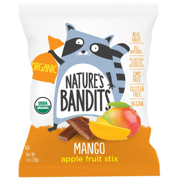 Nature's Bandits Mango Apple Fruit Stix