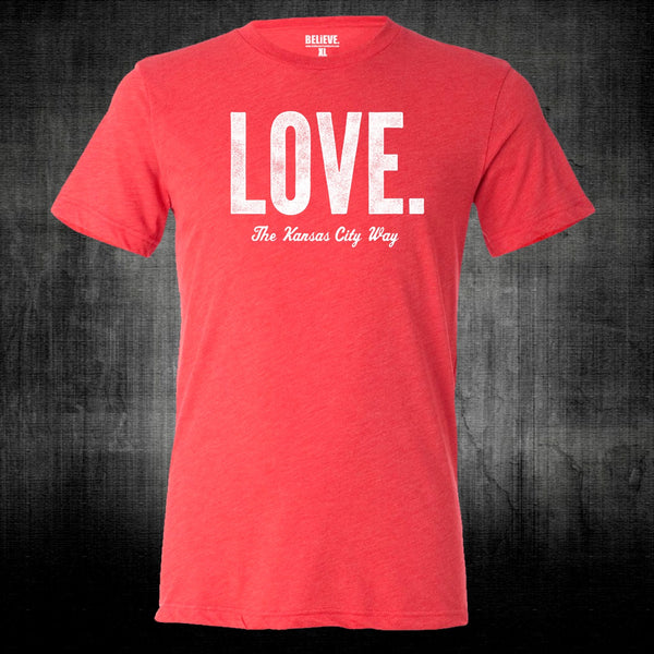 LOVE. The Kansas City Way | Vintage Red