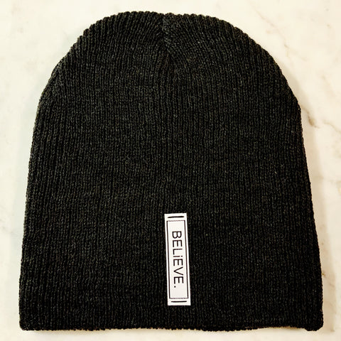 BELiEVE. Beanie | Heather Black