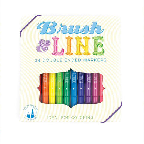 Brush & Line Double Ended Markers