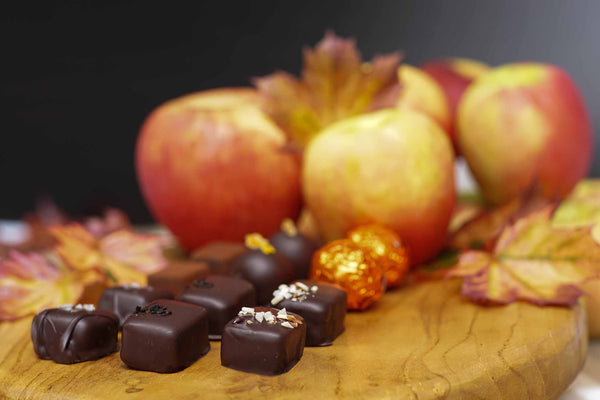 Layered Spiced Apple Dark Chocolate