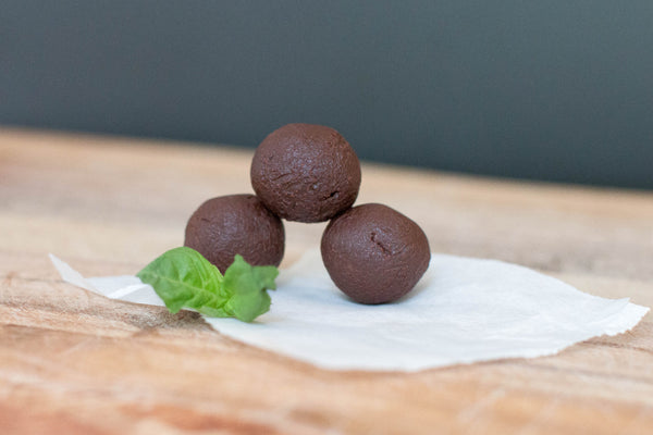 Hand Rolled Dark Chocolate Basil