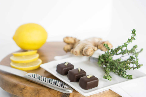 Lemon Thyme Ginger Dark Chocolate
