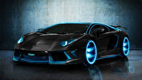 Lamborghini Aventador Tron Legacy 8x10 Photo - Fame Collectibles