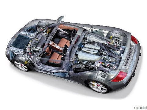 Porsche Carrera Gt Cutaway Mouse Pad Mousepad Mouse mat - Fame Collectibles
