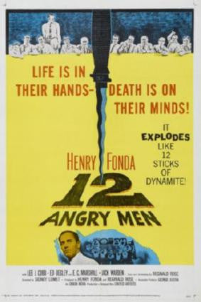 12 Angry Men Movie Poster Puzzle Fun-Size 120 pcs - Fame Collectibles