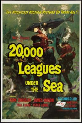20000 Leagues Under The Sea Movie Poster 24in x 36in - Fame Collectibles
