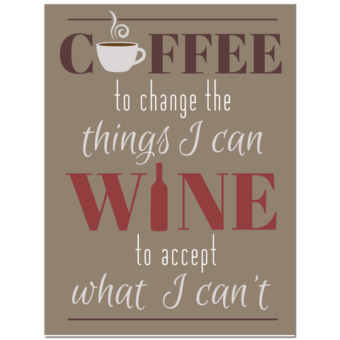 Coffee to change the things I can, Wine to accept what I can't puzzle