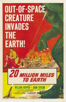 20 Million Miles To Earth Movie Poster 24x36 - Fame Collectibles