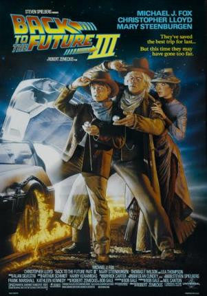 Back To The Future 3 Movie Poster 24x36 - Fame Collectibles