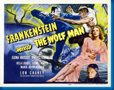 Frankenstein Meets The Wolfman Movie Poster Puzzle Fun-Size 120 pcs - Fame Collectibles