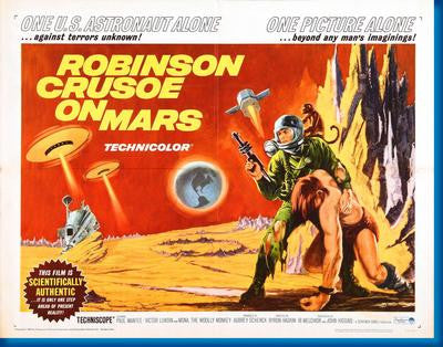Robinson Crusoe On Mars Hz Movie Poster 24x36 - Fame Collectibles