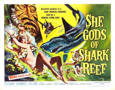 She Gods Of Shark Reef Movie Poster 24x36 - Fame Collectibles