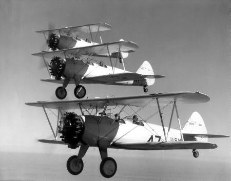 Boeing Stearman In Formation 8x10 photo - Fame Collectibles