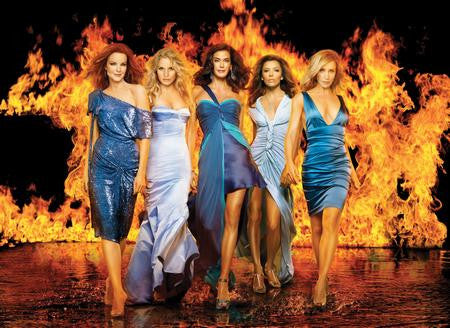Desperate Housewives Poster On Fire 24x36 - Fame Collectibles