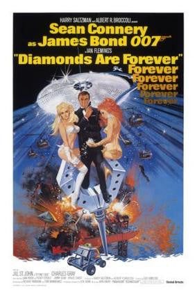 Diamonds Are Forever Movie Poster James Bond 24x36 - Fame Collectibles