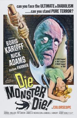 Die Monster Die Movie Poster 24x36 - Fame Collectibles