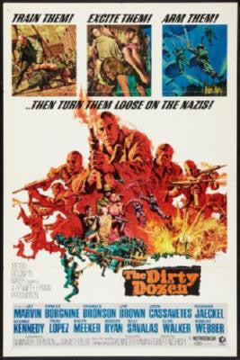 Dirty Dozen The Movie Poster 24in x 36in - Fame Collectibles
