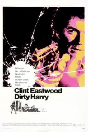 Dirty Harry Movie Poster 24in x 36in - Fame Collectibles