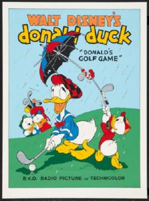 Donald Duck Poster #02 Donalds Golf Game 24inx36in - Fame Collectibles